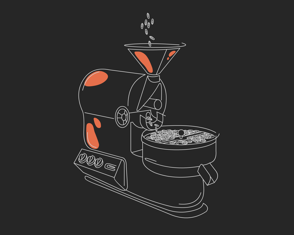 Barista rebranding Illustration