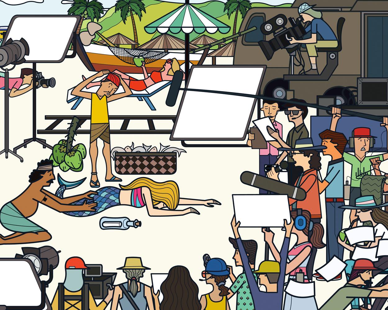 Coconut Media Office space Illustrations