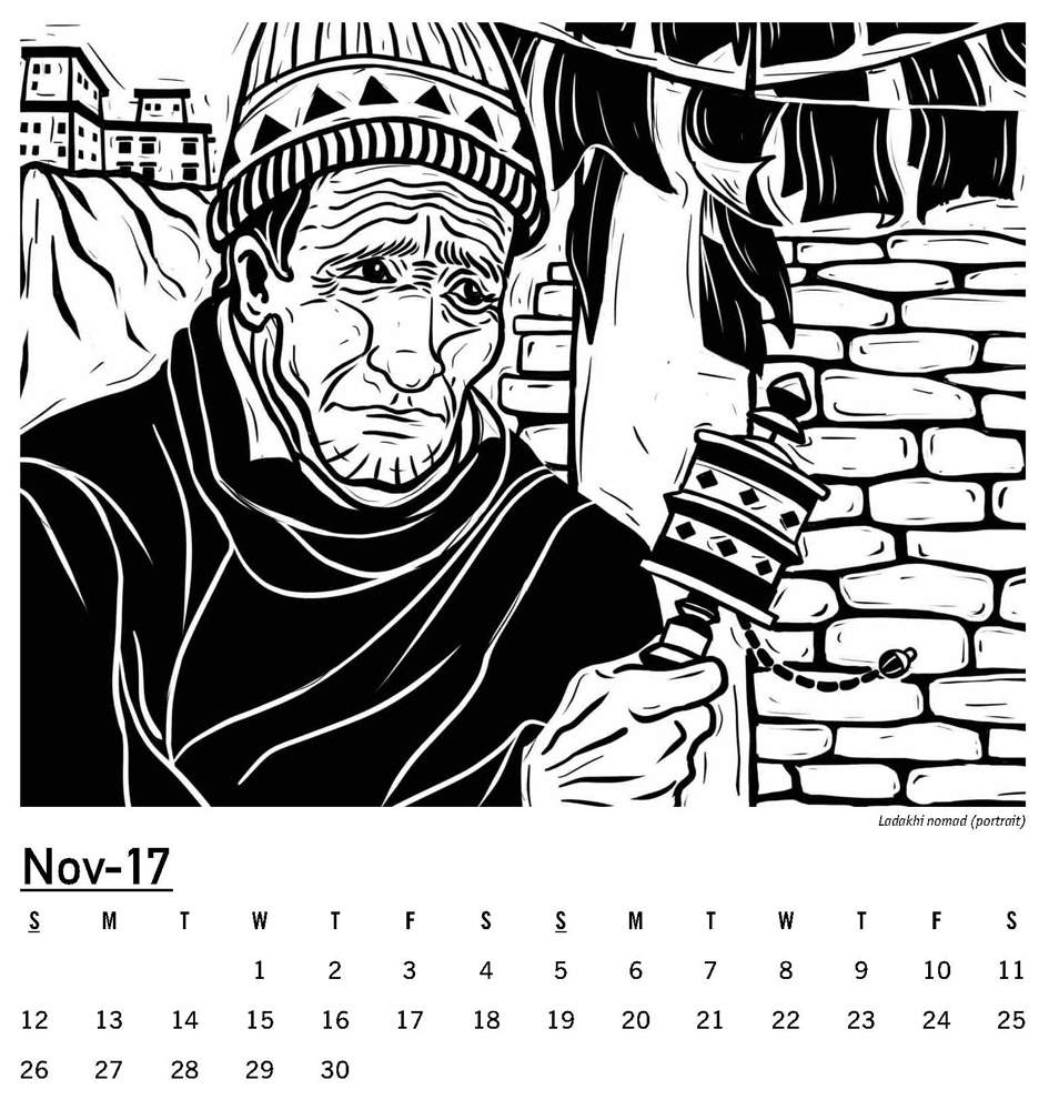 Ink & Stamp   Calendar Illustrations