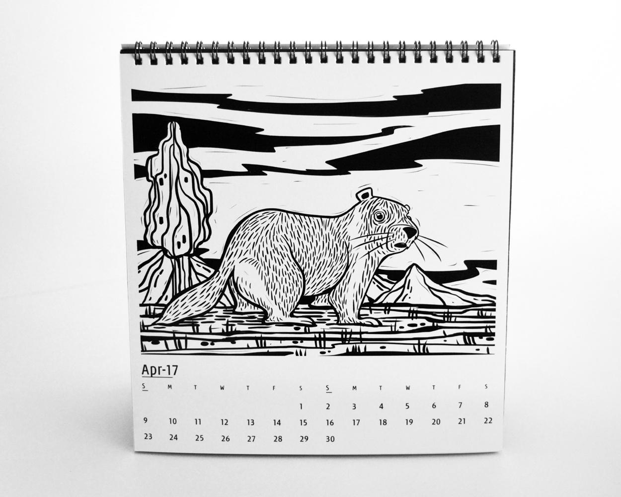 Ink & Stamp   Calendar Illustrations