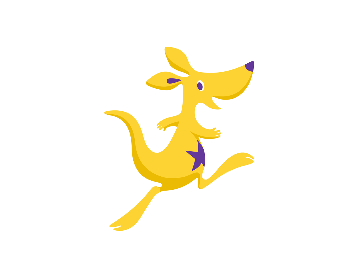 Kangaroo Kids Mascot